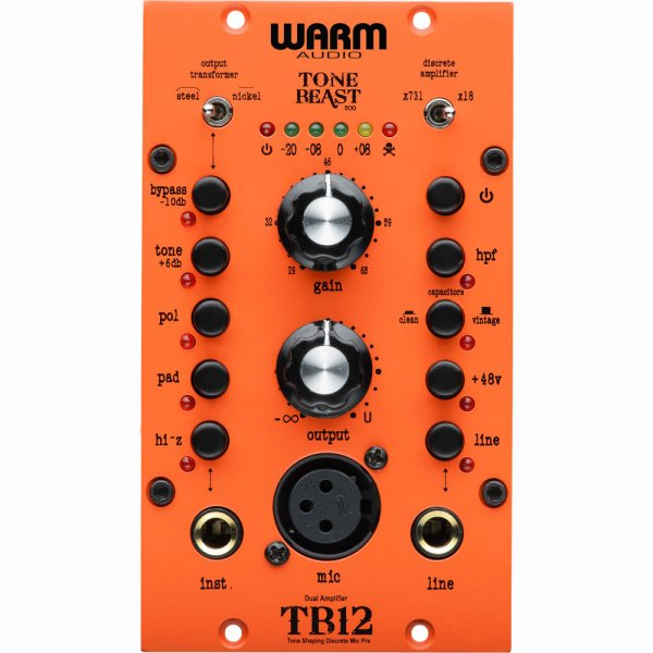 Warm Audio TB12/500 - Tone Beast Microphone Preamplifier