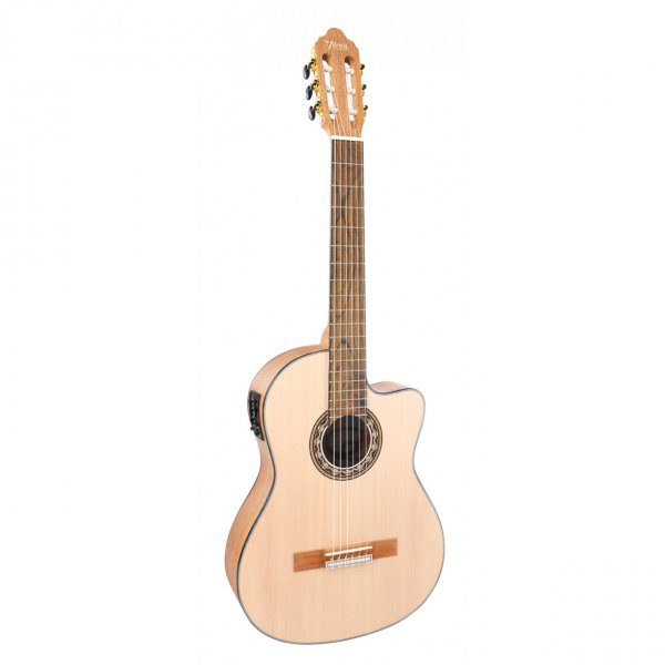 Valencia Semi Classical Guitar 4/4 Cutway Natural with Truss Rod VC304CE