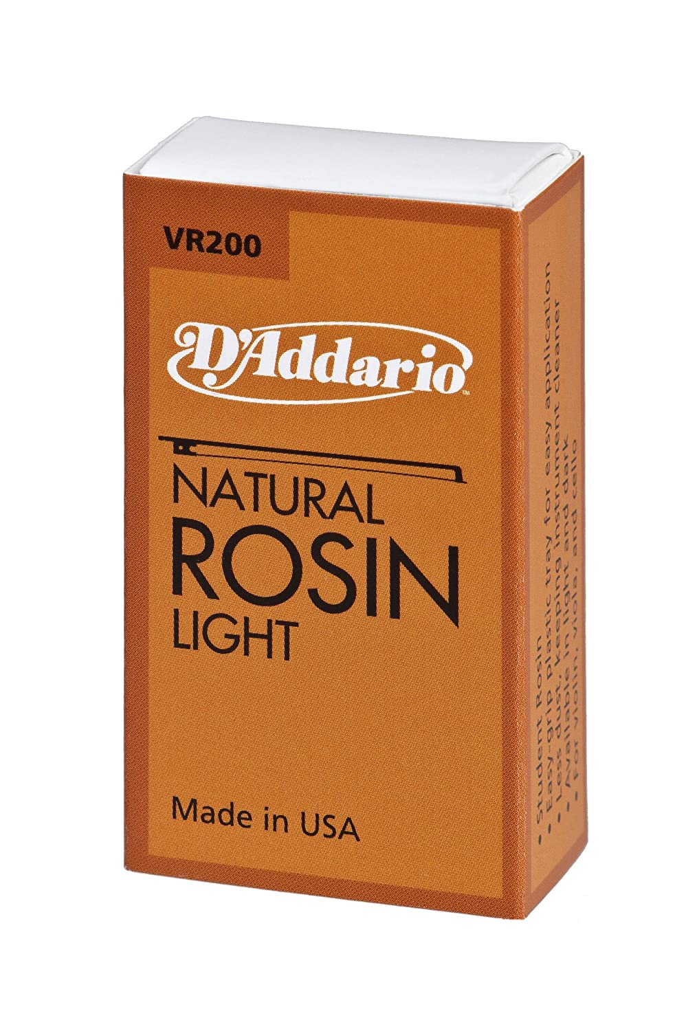D'Addario Natural Rosin, Light for violin